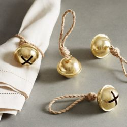 Jingle Bell Twine Napkin Rings