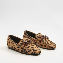 Leather Leopard Moccasins