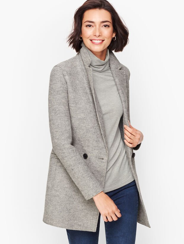 Long Gray Wool Jacket