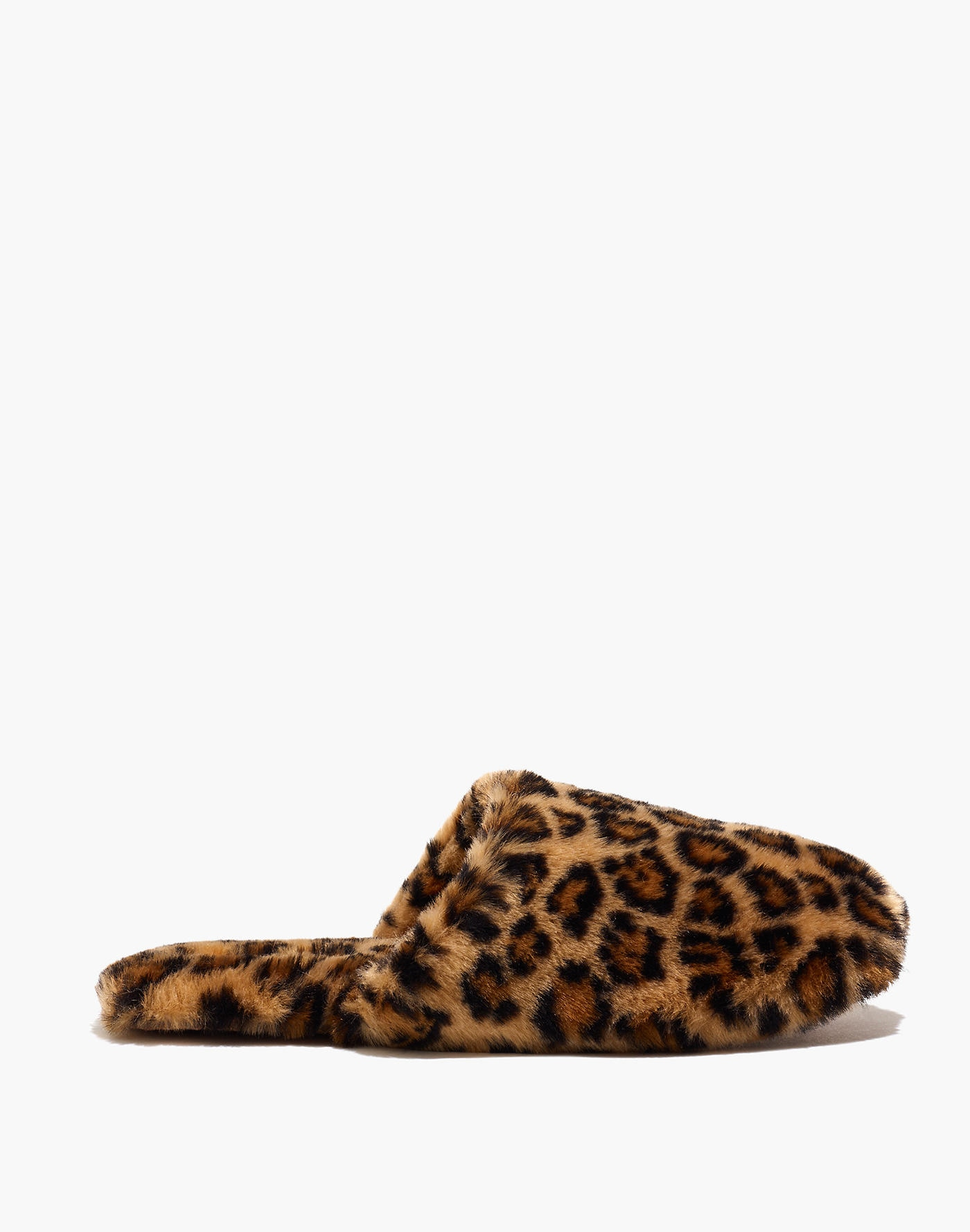 Leopard Faux Fur Slipper