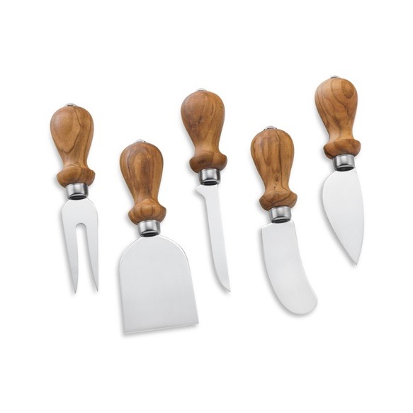 Olive Wood Cheese Knives Set