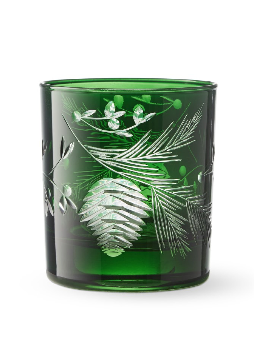 Green Pinecone Old Fashioned Glasses