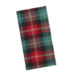 Red and Green Holiday Plaid Napkin Set
