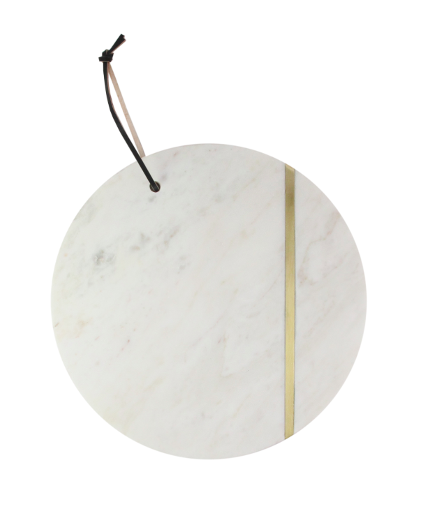 Round Marble Serving Platter
