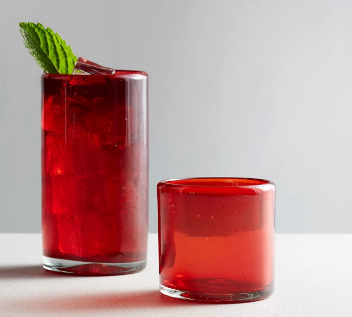 Red Cocktail Glasses