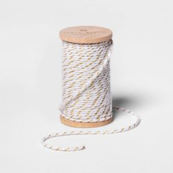 Gold and White Twine