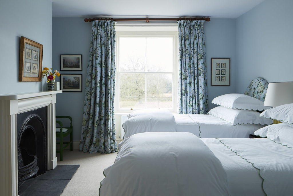 Blue bedroom in North Farm, Rita Konig's English country house