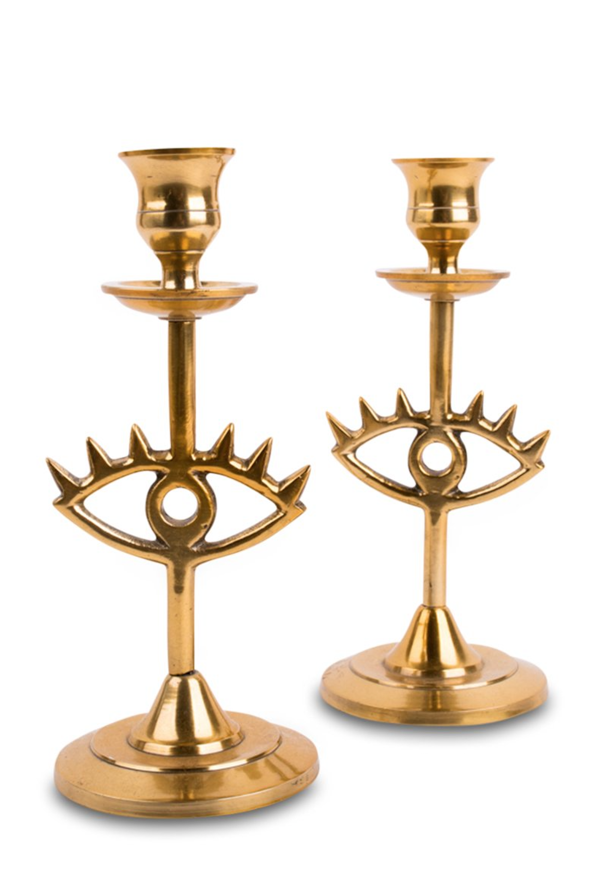 Brass Eye Candlestick