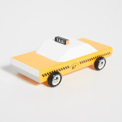 Wooden Taxi Cab Toy
