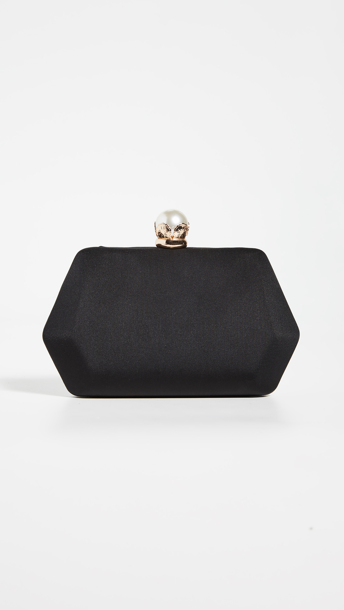 Satin Black Clutch