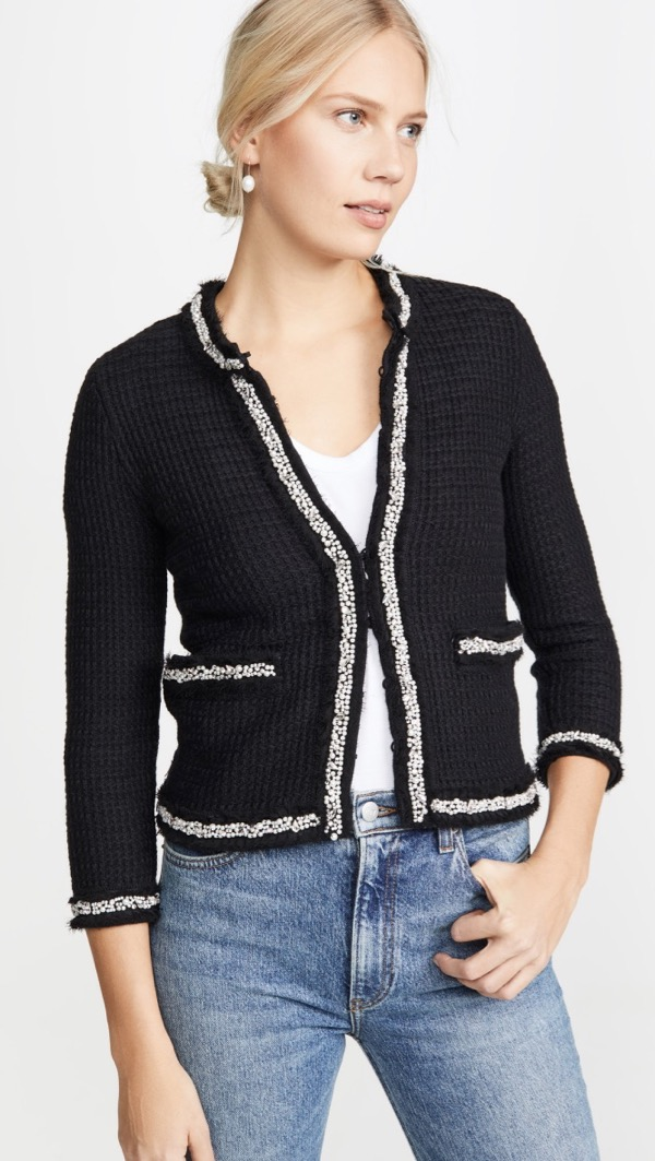 Embellished Sweater Jacket