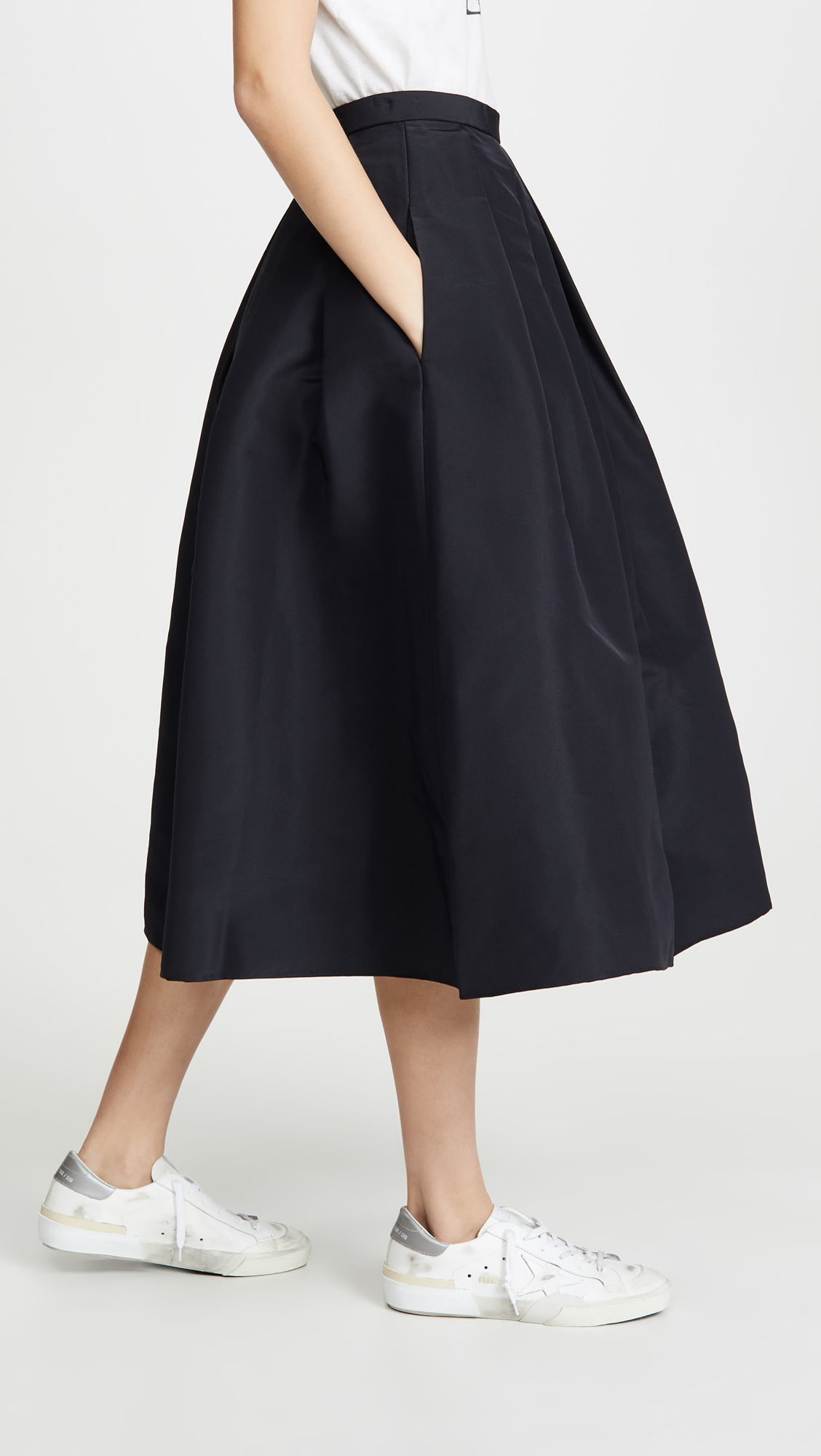 Allover Box Pleats Skirt