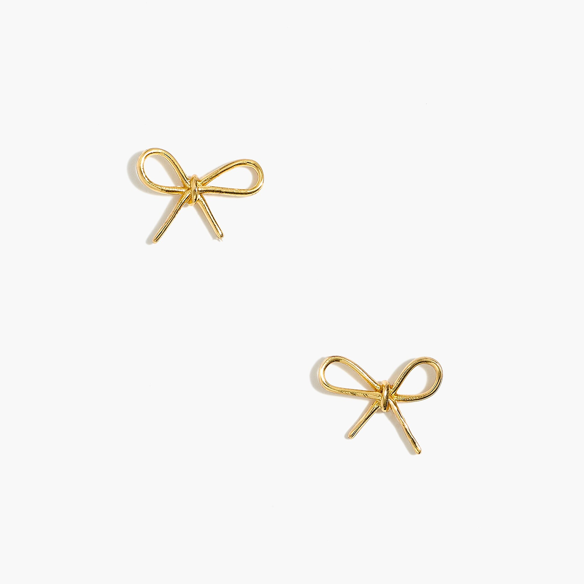 Golden Bow Stud Earrings