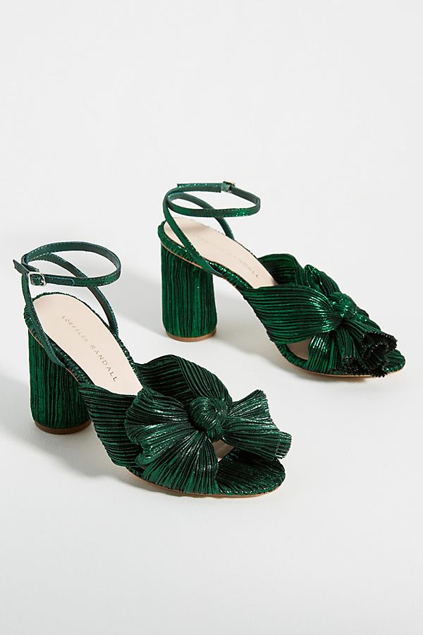 Green Knotted Heels