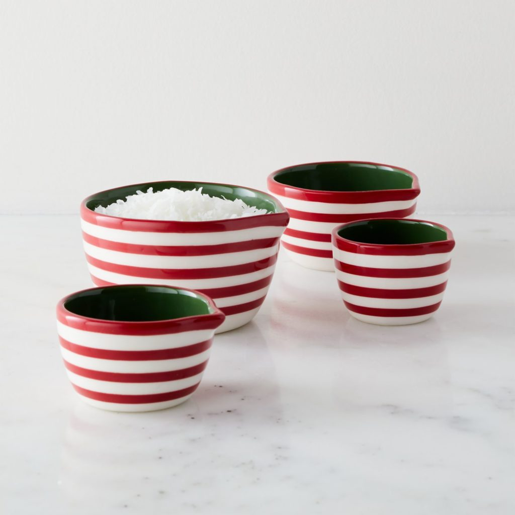 Holiday Stripe Measuring Cup