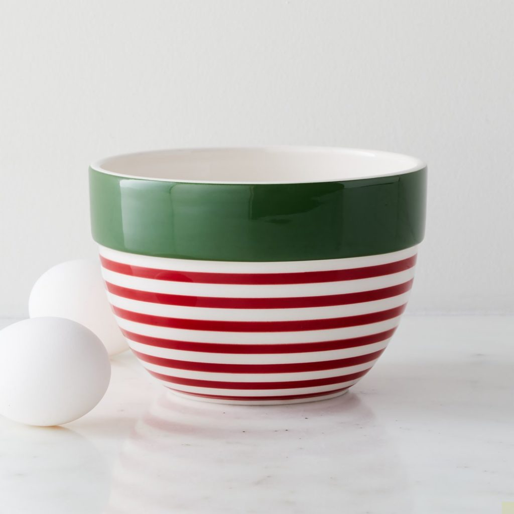 Holiday Stripe Small Mixing Bowl