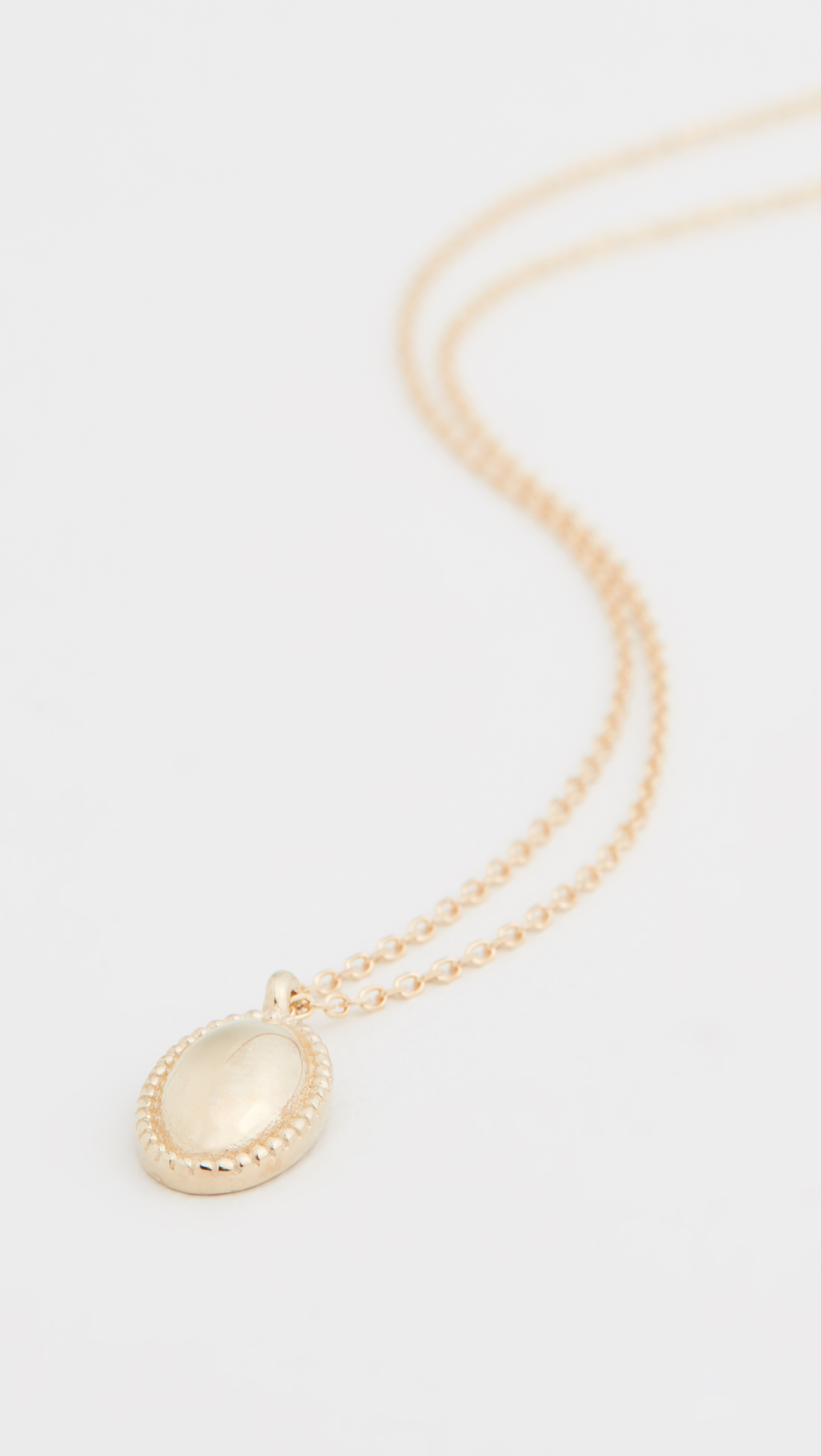 14 Karat Gold Oval Necklace