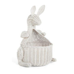White Wicker Storage Basket