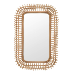 Rattan Coiled Wall Mirror