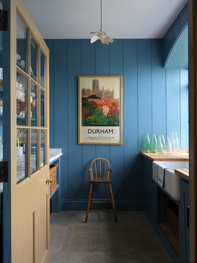 Blue pantry in North Farm, Rita Konig's English country house