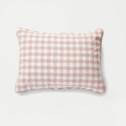 Pink Gingham Pillow