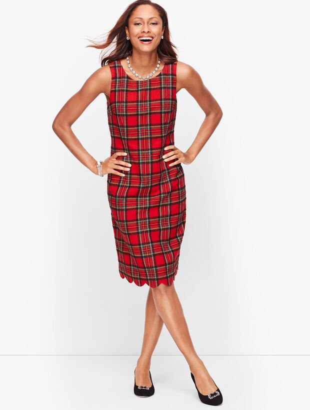 Plaid Shimmer Dress