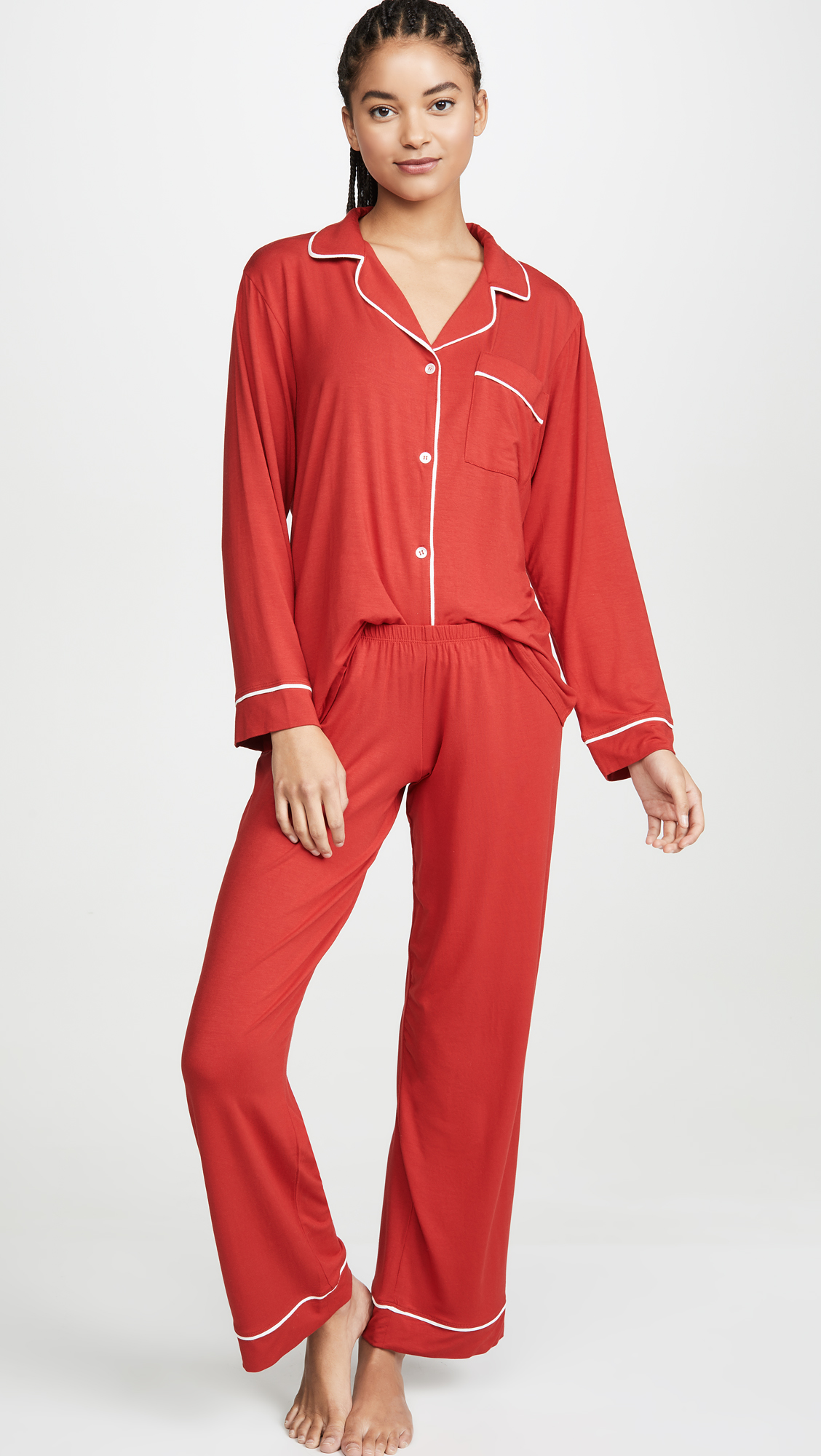 Red and Ivory PJ Set