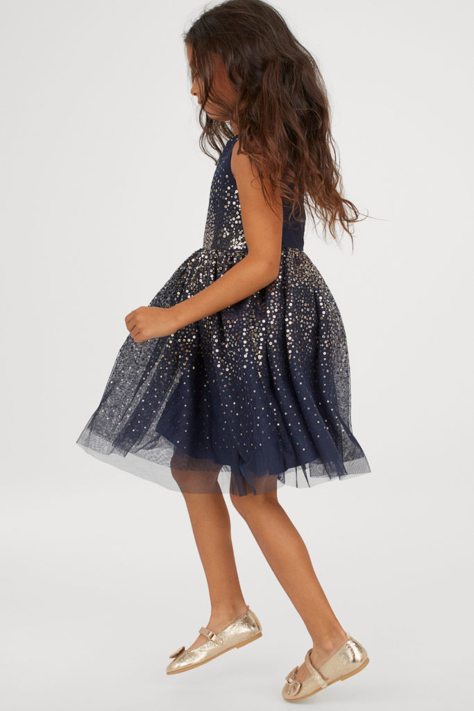 Girls' Sequined Tulle Dress
