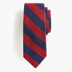 Red and Navy Striped Tie