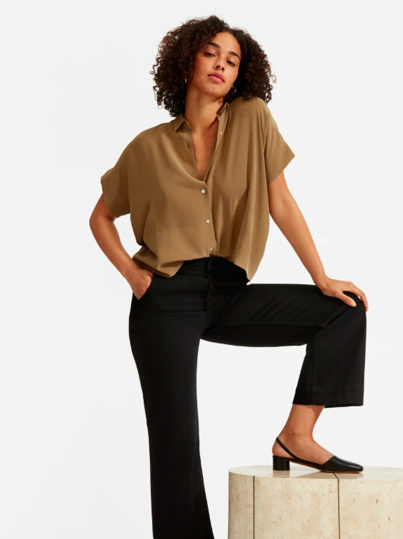 Silk Short Sleeve Shirt