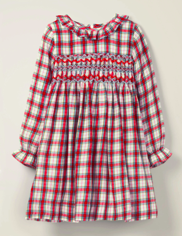 Smocked Checked Dress