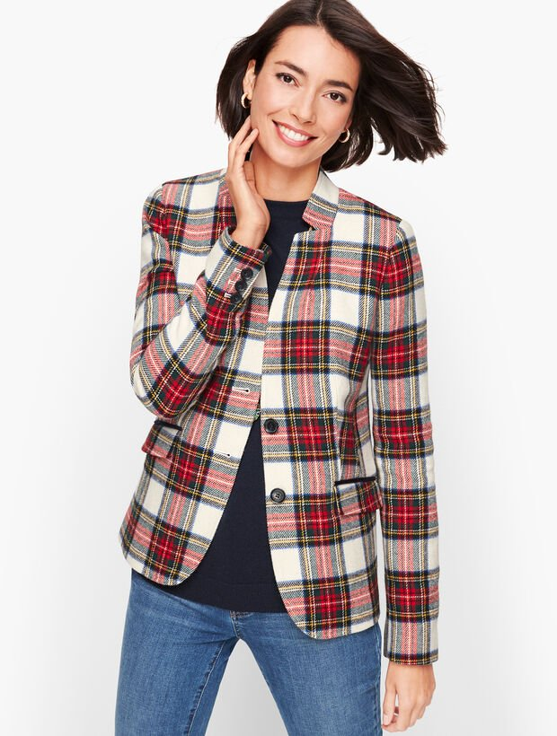 Holiday Plaid Blazer