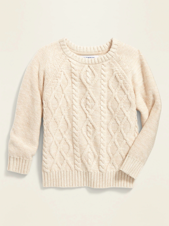 Toddler Boys Cable Knit Sweater