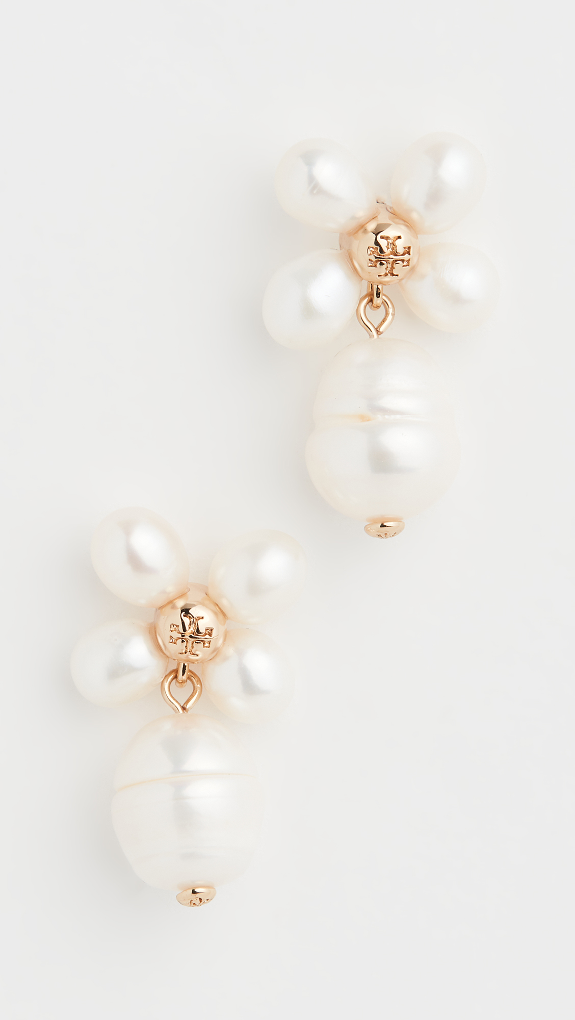 Clover Pearl Drop Earrings