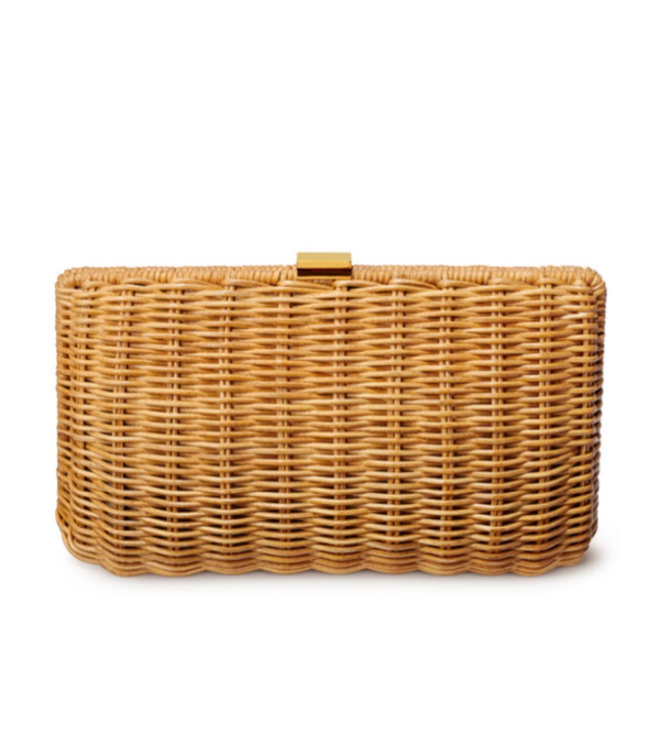 Aerin Wicker Clutch