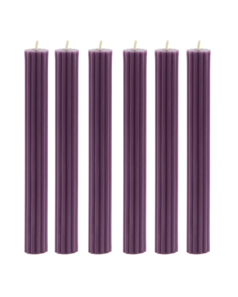 Amethyst Purple Beeswax Candles