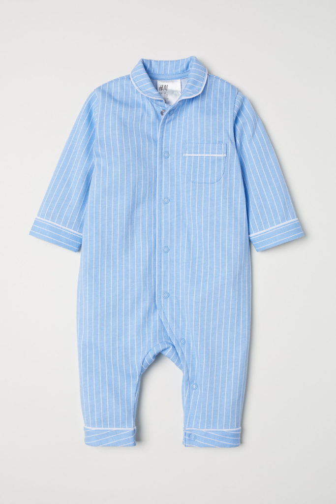 Baby Boy Blue Stripe Pajamas