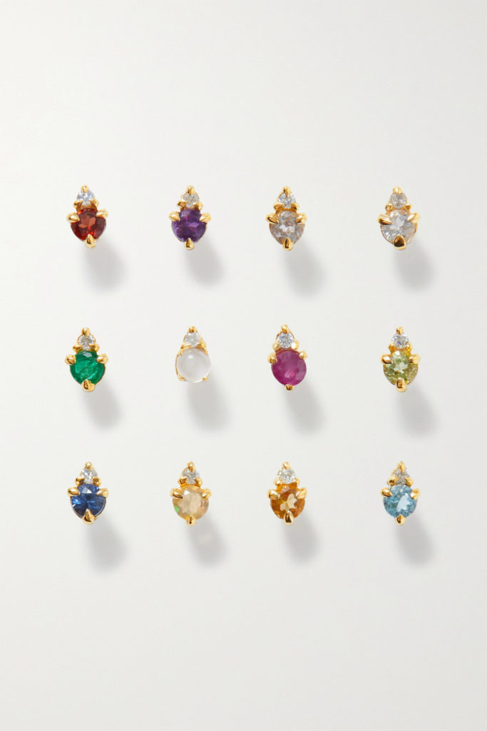 Birthstone Diamond Single Stud Earring