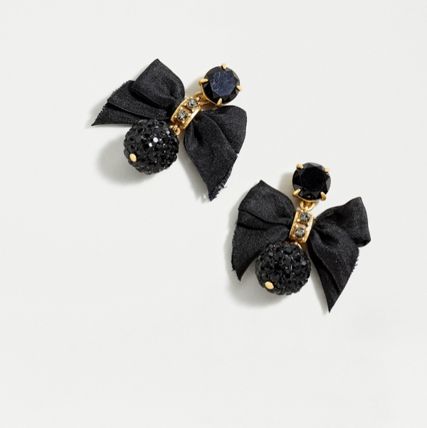 Festive Drop Bow Earrings