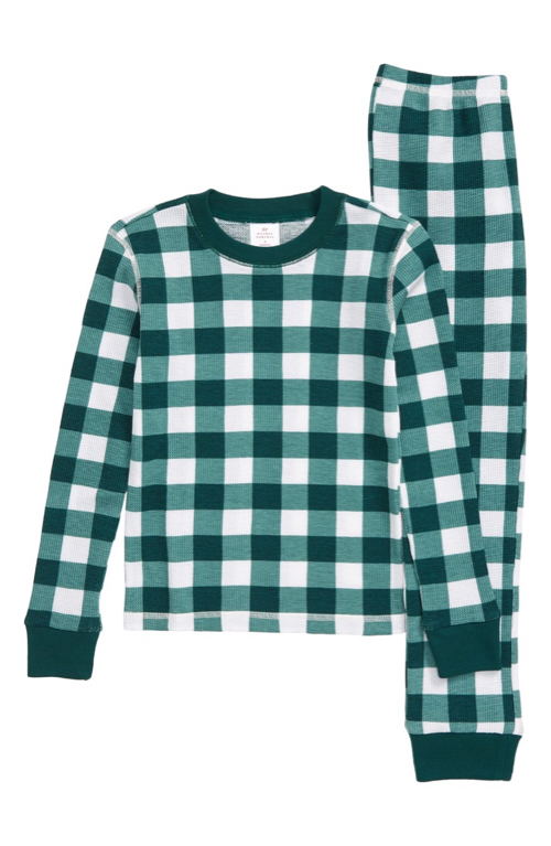 Kids' Gingham Thermal Pajamas