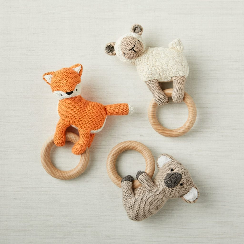 Huggable Teething Rattles