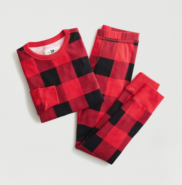 Kids' Buffalo Plaid Pajama Set