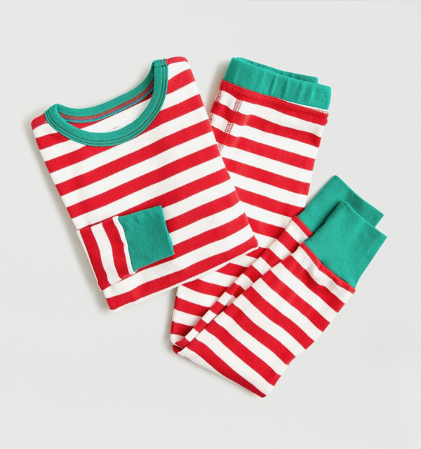 Kids' Candy Cane Pajama Set