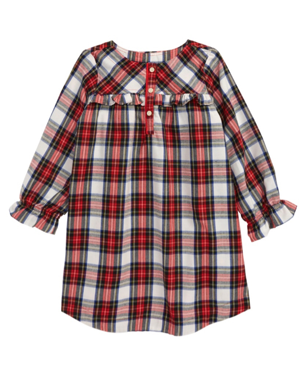 Kids' Tartan Flannel Nightgown