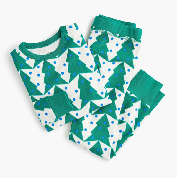 Kids' Tree Print Pajama Set