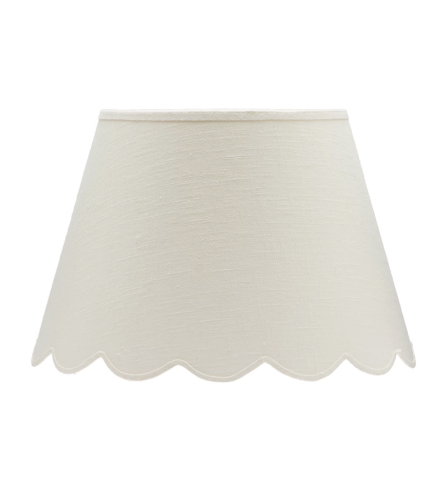 Matilda Goad White Scalloped Fabric Lampshade