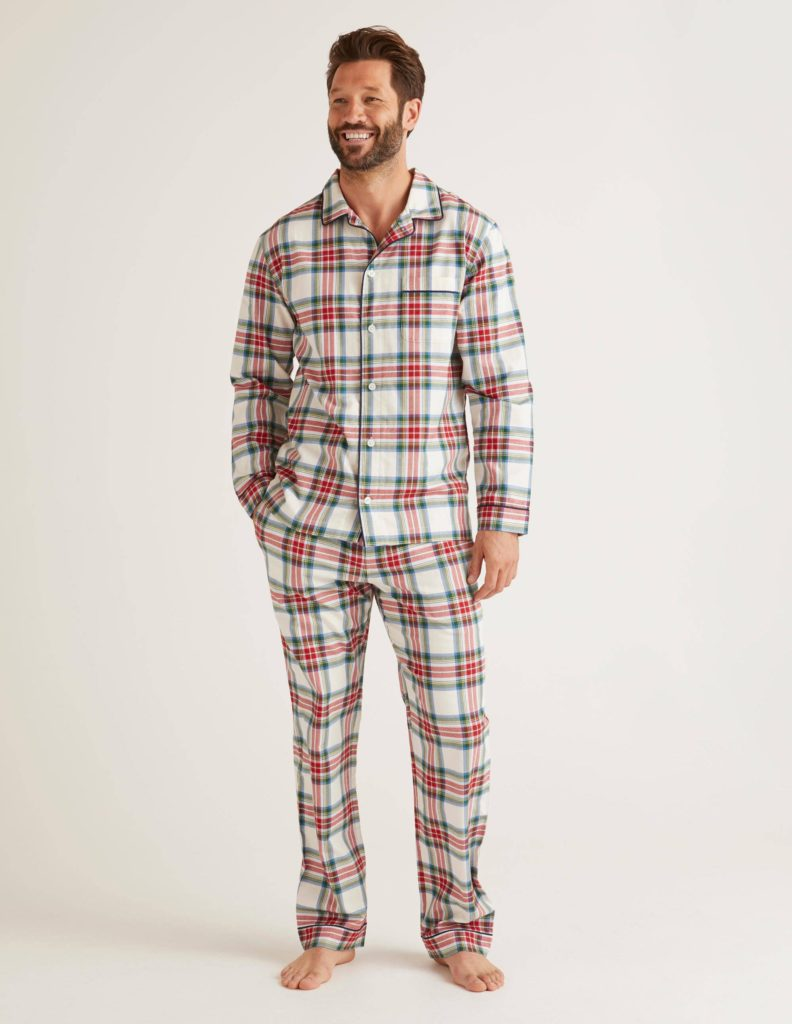 Mens' brushed cotton pajama set