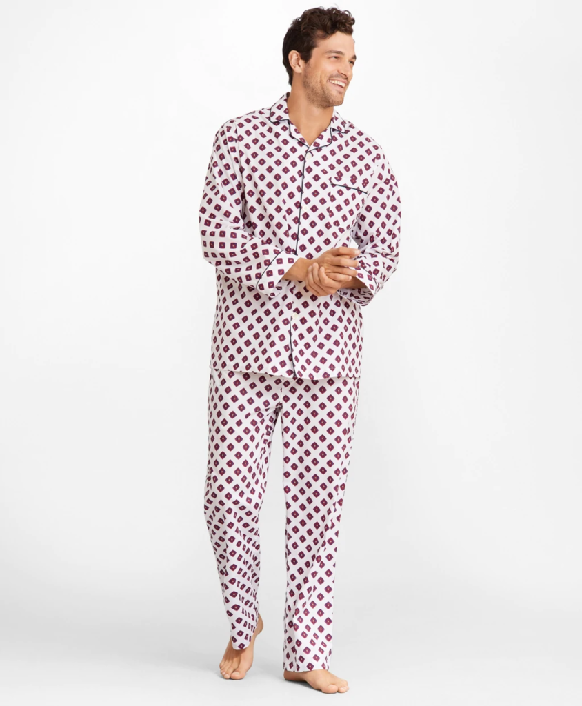 Men's Neat Print Pajamas