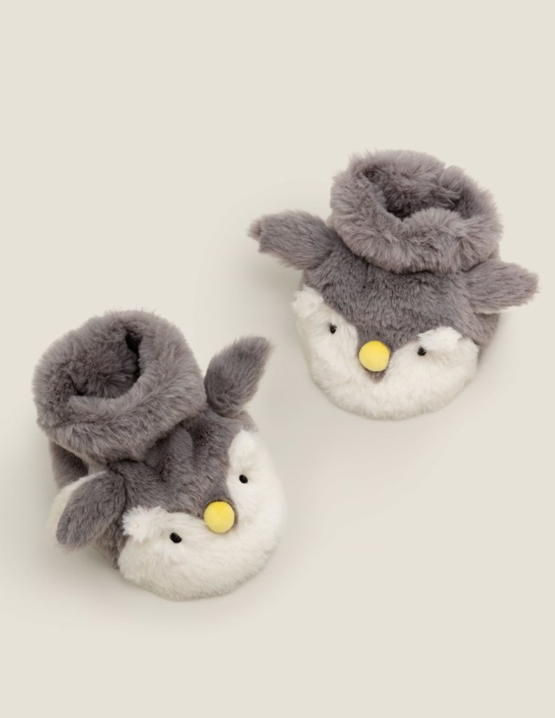 Penguin Slipper Booties