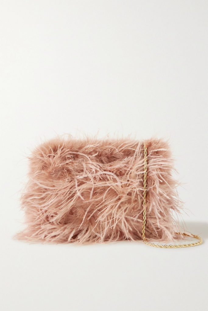 Pink Zelda Feather Handbag